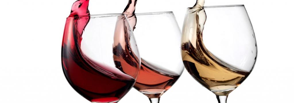 vino rood roze wit